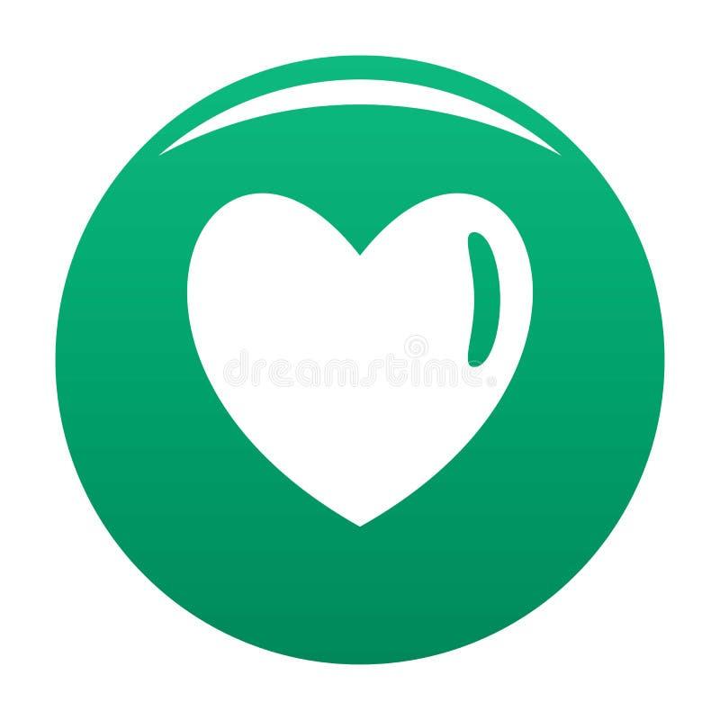 Verde humano morno do vetor do ícone do coração ilustração royalty free