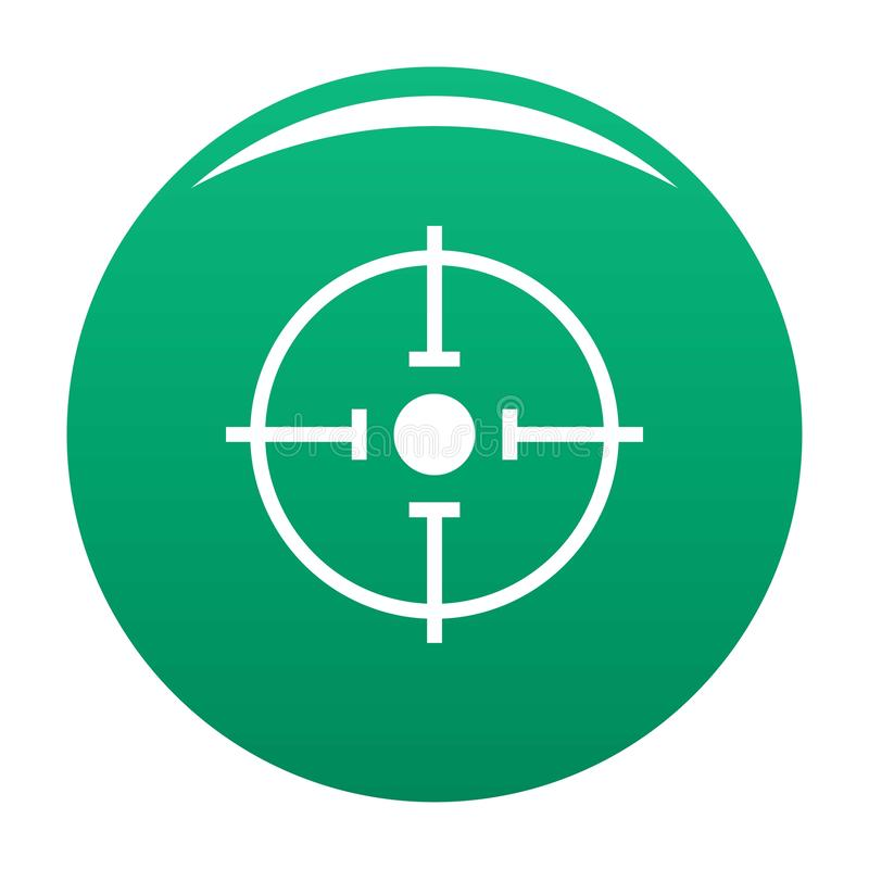 Verde importante di vettore dell'icona dell'obiettivo illustrazione di stock