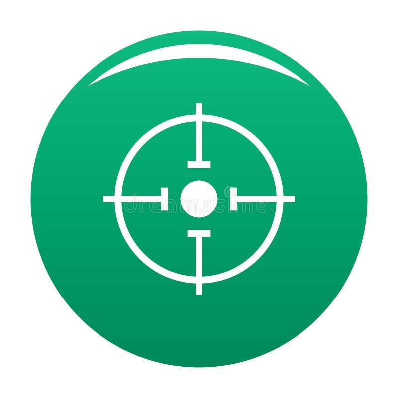 Verde importante do ícone do alvo ilustração stock