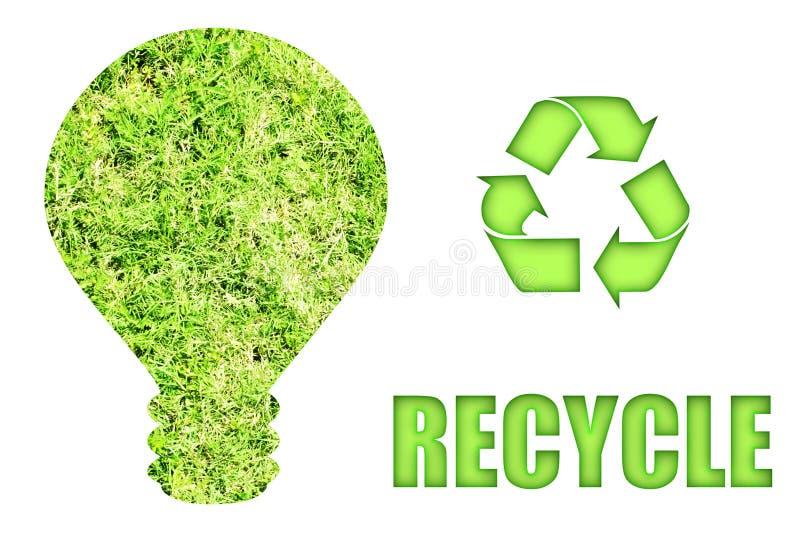 Verde indo e salvamento de nosso planeta ilustração stock