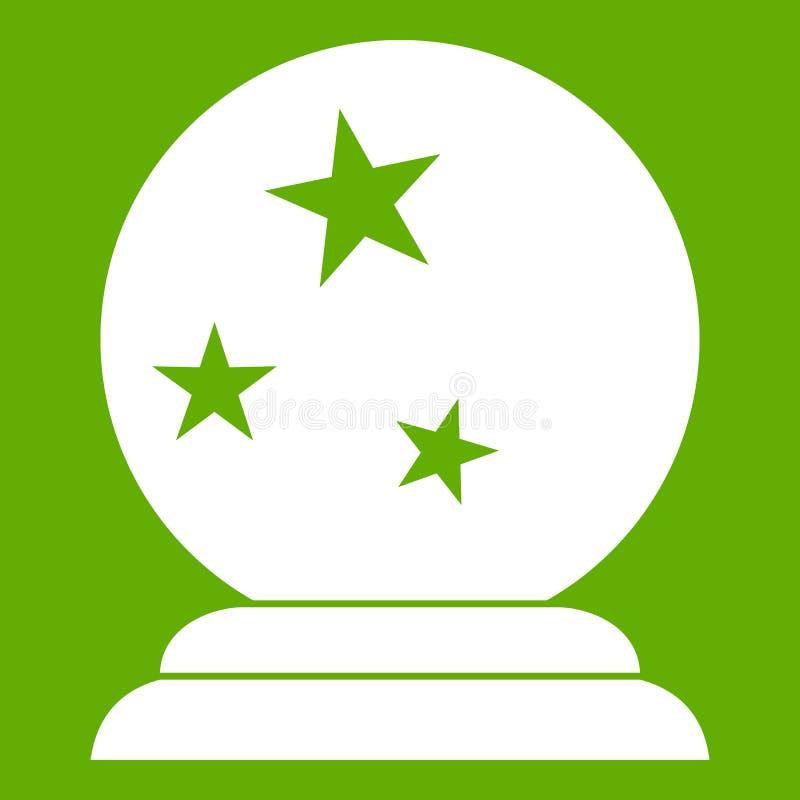 Verde mágico del icono de la bola ilustración del vector