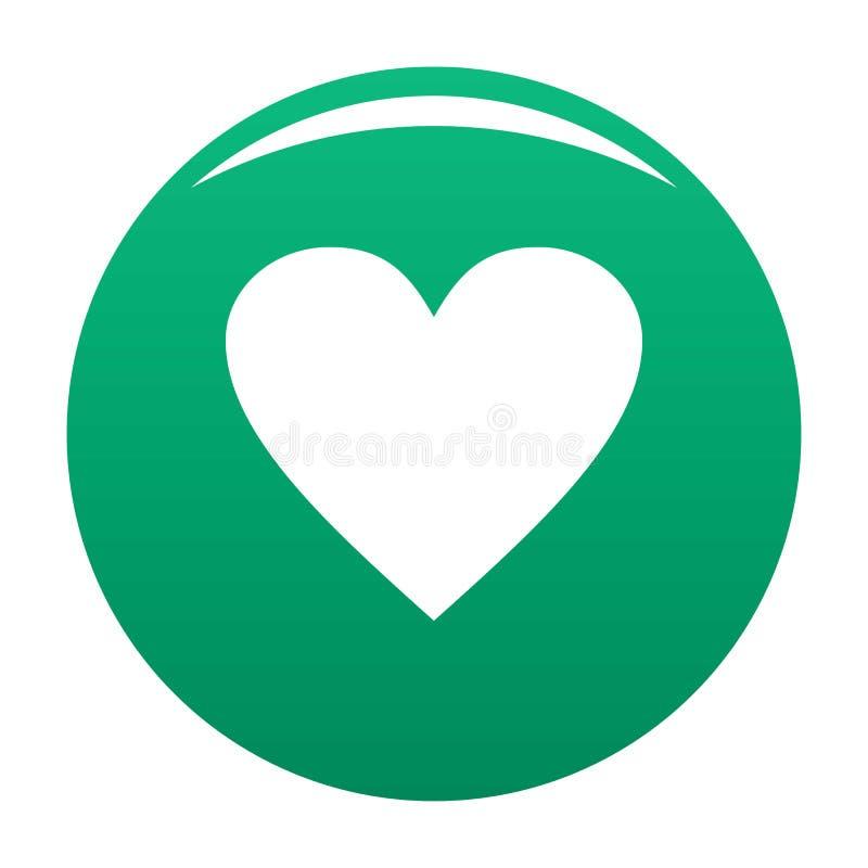 Verde maçante do ícone do coração ilustração stock