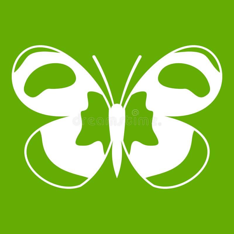 Verde macchiato dell'icona della farfalla illustrazione di stock
