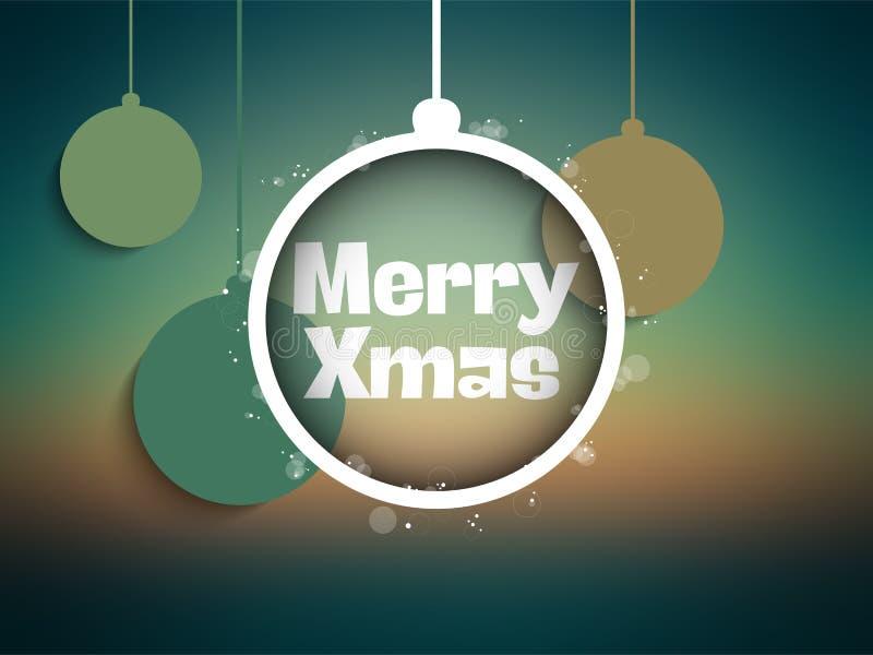 Verde Mesh Gradient de la Feliz Navidad stock de ilustración