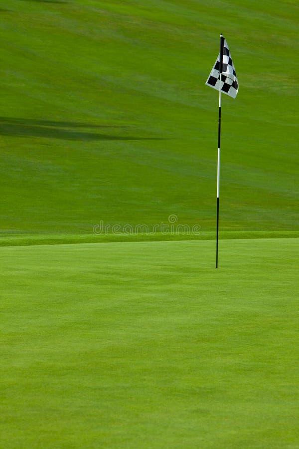 Verde mettente di golf immagine stock