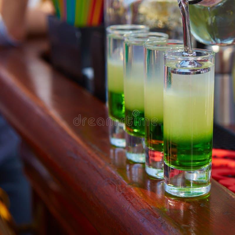 Verde mexicano mergulhado do cocktail imagem de stock