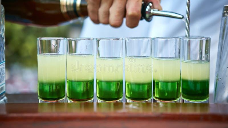 Verde mexicano mergulhado do cocktail fotografia de stock