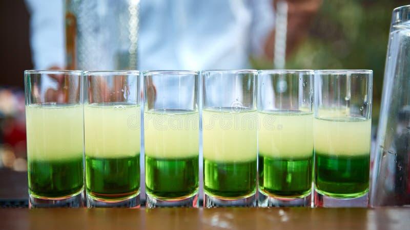 Verde mexicano mergulhado do cocktail foto de stock
