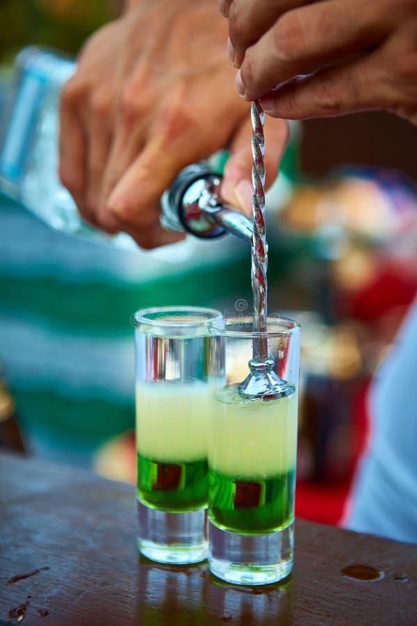 Verde mexicano mergulhado do cocktail imagens de stock