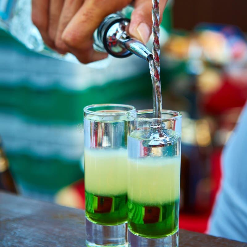 Verde mexicano mergulhado do cocktail foto de stock royalty free