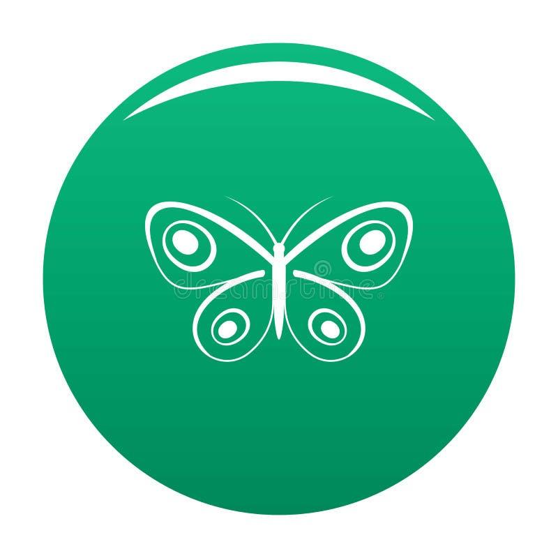 Verde minuscolo di vettore dell'icona della farfalla illustrazione vettoriale