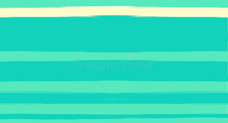 Verde, modelo del verano de Stripes Suit Seamless del marinero de la acuarela del vector de la turquesa Diseño horizontal de la m ilustración del vector