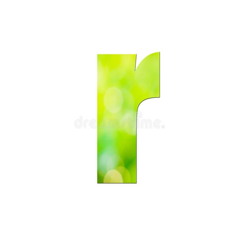 Verde natural em letras pequenas ' ou ' sobre fundo branco ilustração do vetor
