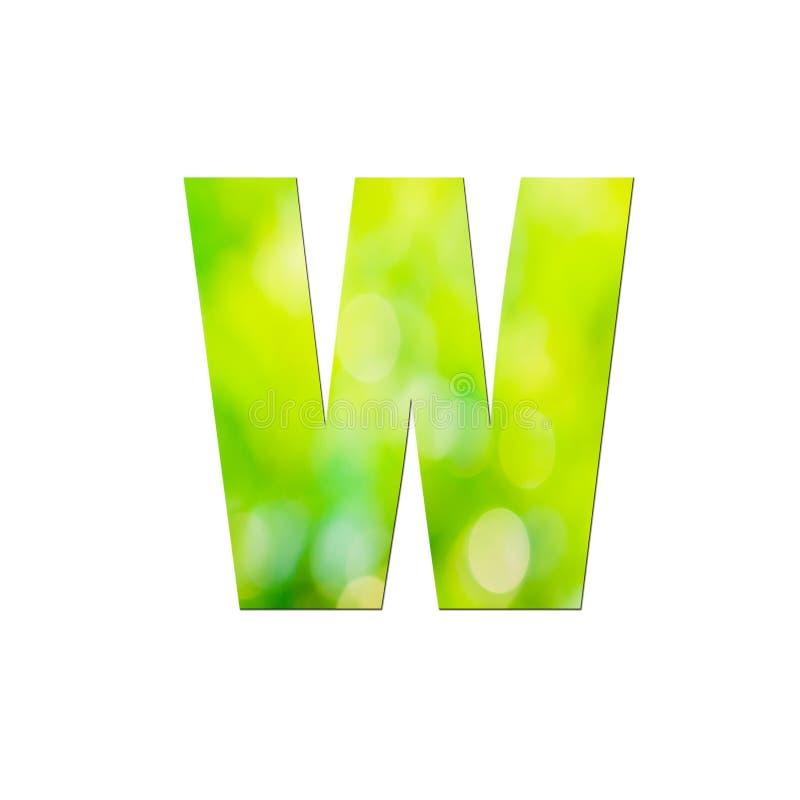 Verde natural em pequena letra com fundo branco ilustração royalty free
