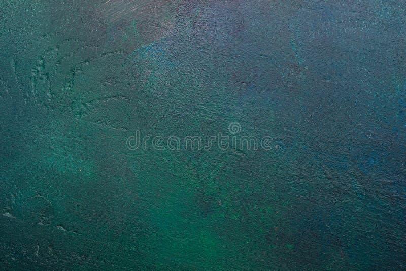 - Verde - o azul escuro pintou o fundo de madeira fotos de stock