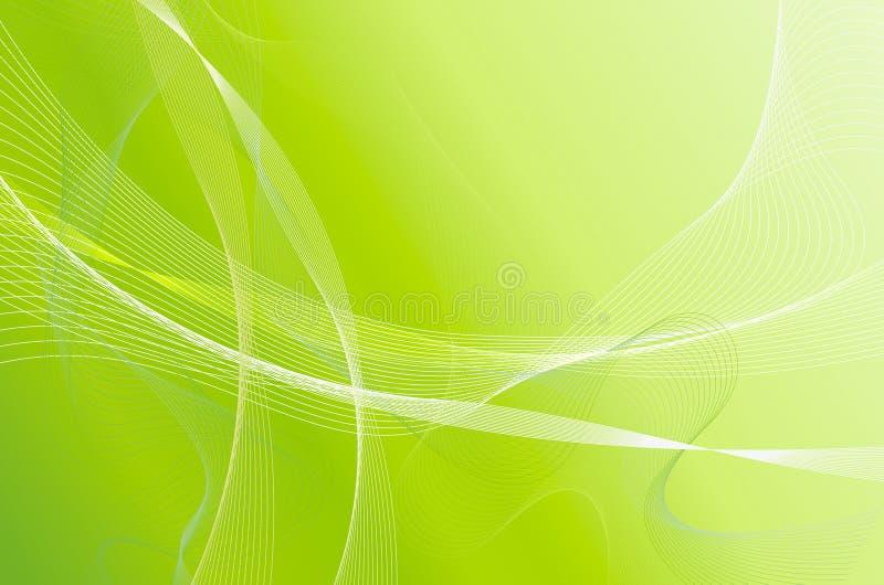 Verde ondulado stock de ilustración