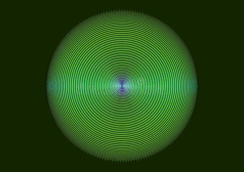 Verde ondulato della sfera - illustrazione variopinta astratta di forma 3D fotografie stock