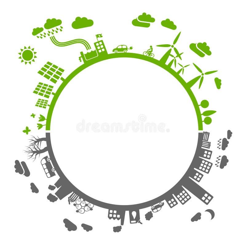 Verde ou cinza? ilustração do vetor
