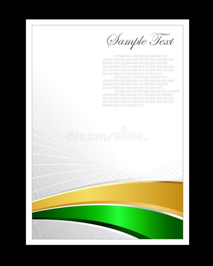 Verde, ouro e fundo abstrato branco ilustração royalty free
