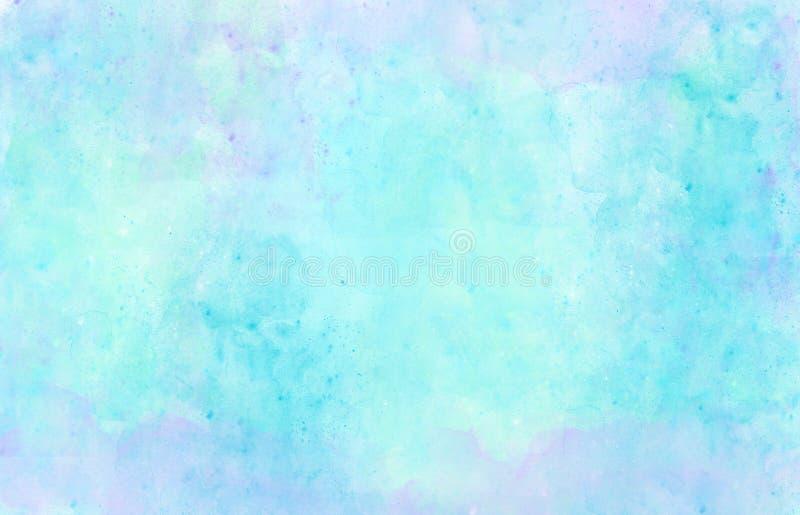 Verde púrpura azul del fondo de la acuarela stock de ilustración