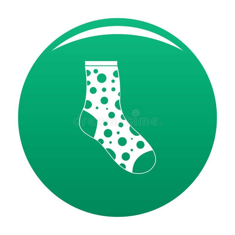 Verde perso di vettore dell'icona del calzino illustrazione vettoriale