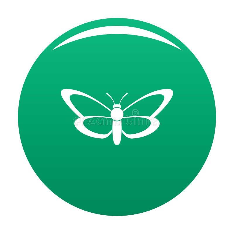 Verde piacevole di vettore dell'icona della farfalla illustrazione di stock