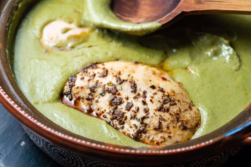 Verde pipian o del topo pipian verde, comida mexicana tradicional fotos de archivo libres de regalías