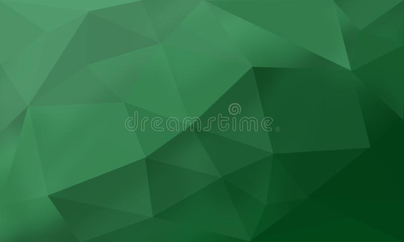 Verde poligonale fotografie stock libere da diritti