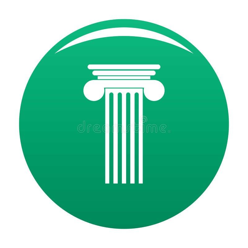 Verde Polyhedral di vettore dell'icona della colonna illustrazione di stock