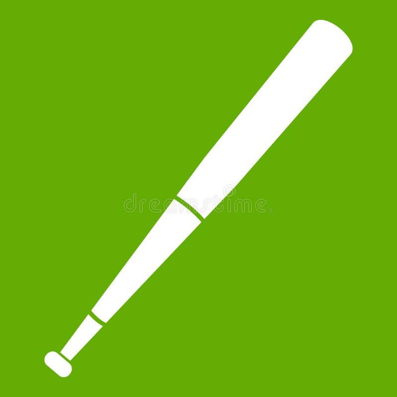 Verde preto do ícone do bastão de beisebol ilustração royalty free
