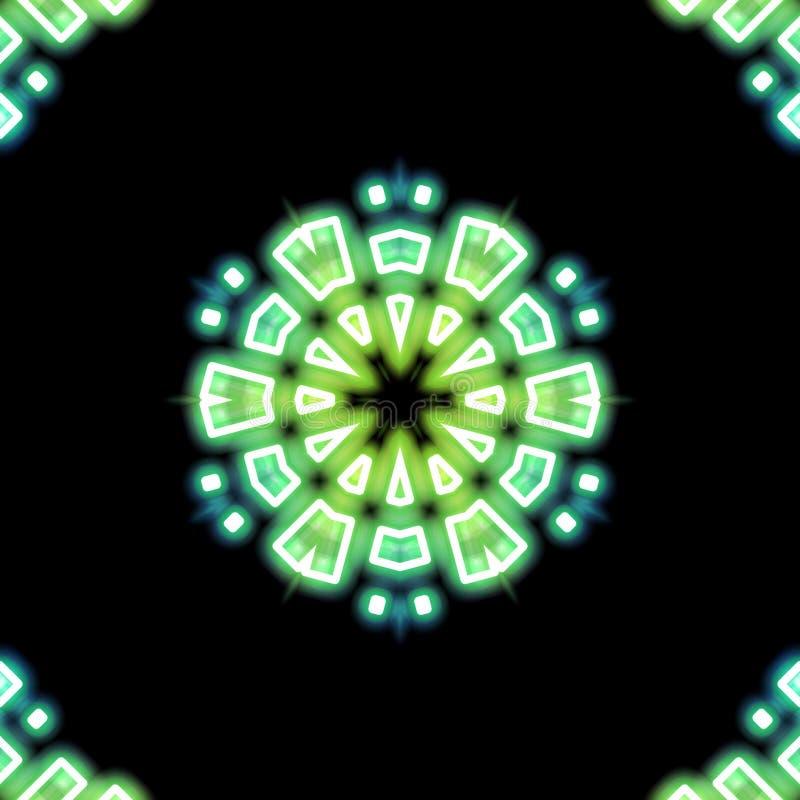 Verde radial y trullo ilustración del vector