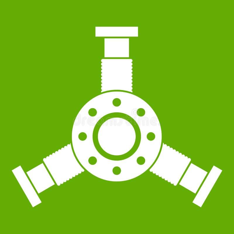 Verde redondo do ícone do detalhe do mecânico ilustração do vetor