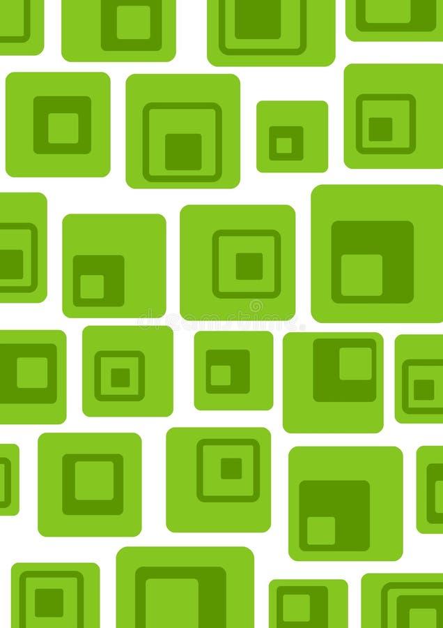 Verde retro ilustración del vector