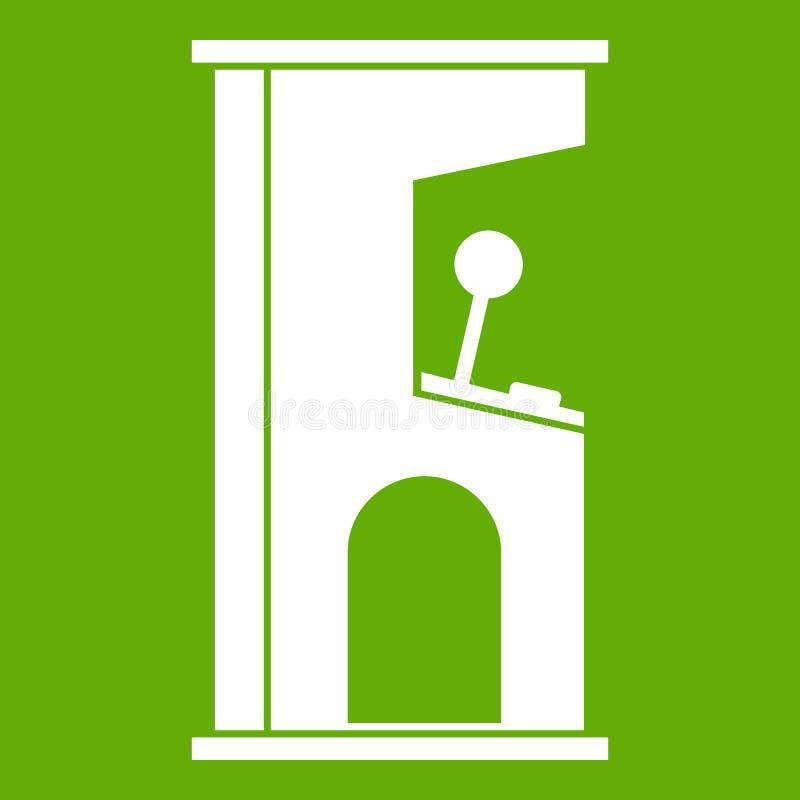Verde retro del icono de la máquina de juego de arcada del estilo stock de ilustración