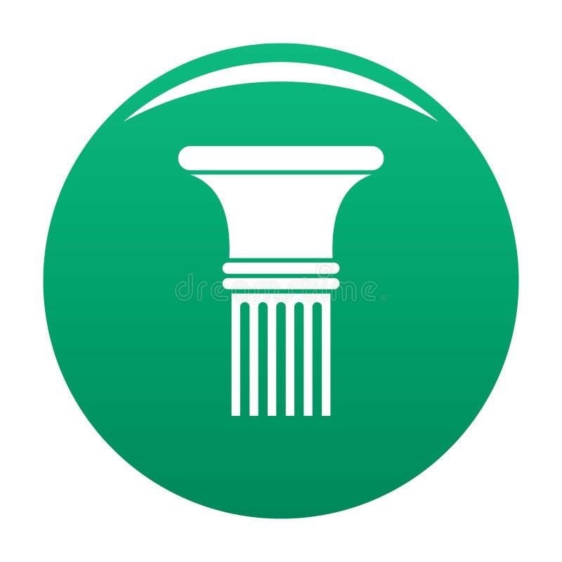 Verde scanalato in di vettore dell'icona della colonna illustrazione di stock