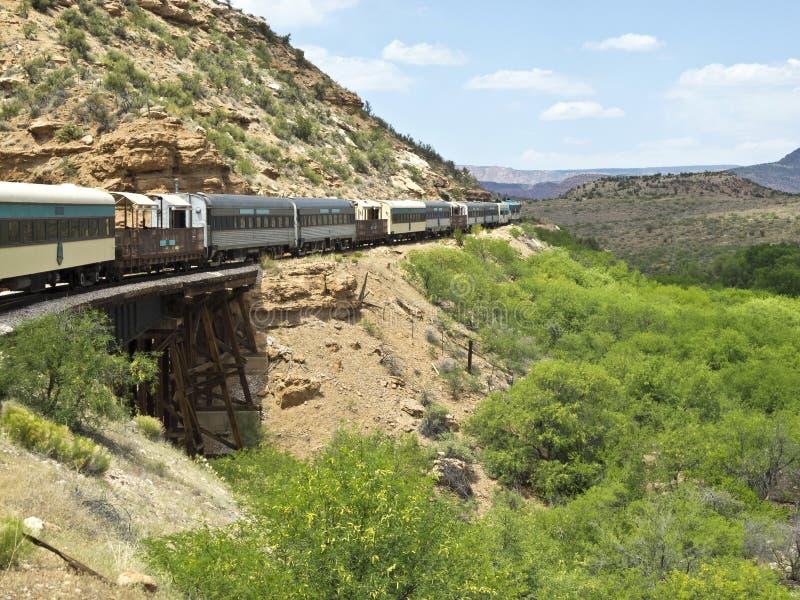 Verde Schlucht-Eisenbahn in Arizona stockfoto