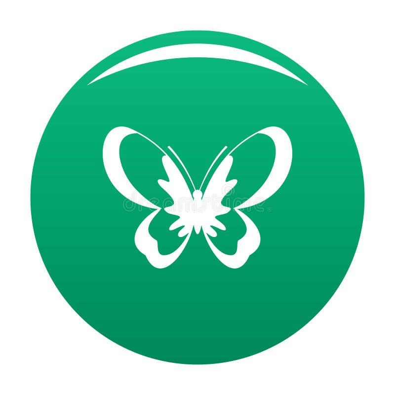 Verde sconosciuto di vettore dell'icona della farfalla illustrazione vettoriale