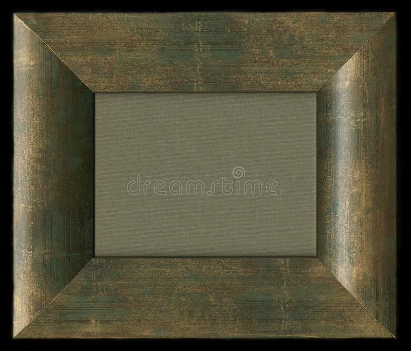 Verde scuro con la struttura di legno d'annata dell'oro immagini stock
