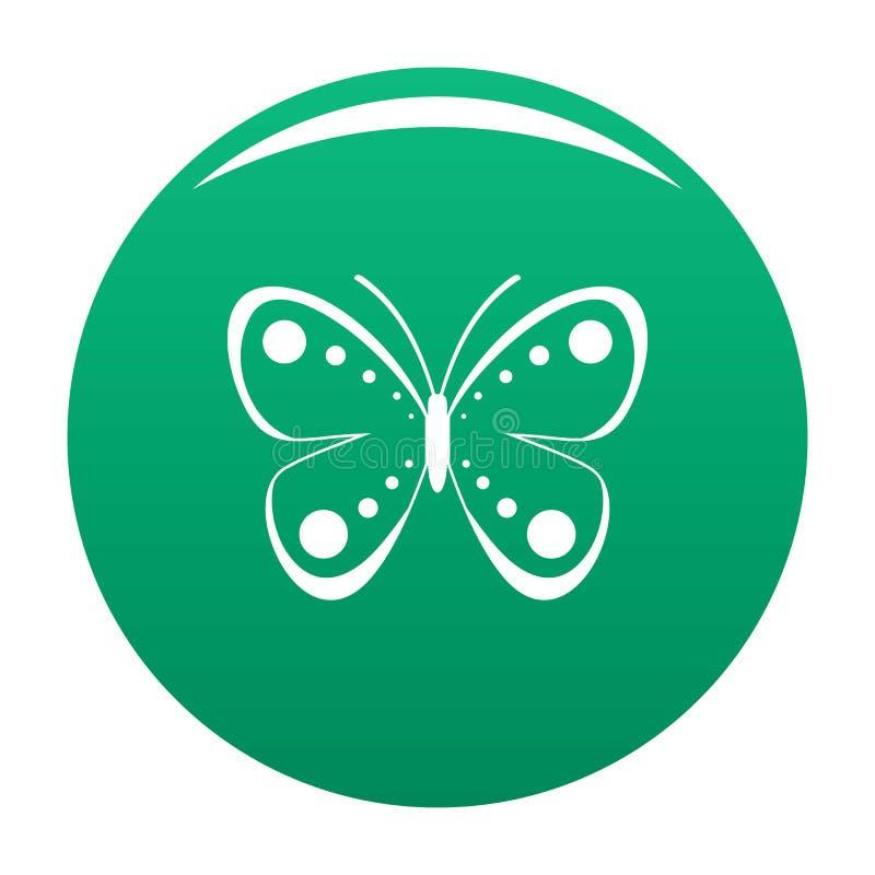 Verde selvaggio di vettore dell'icona della farfalla illustrazione vettoriale