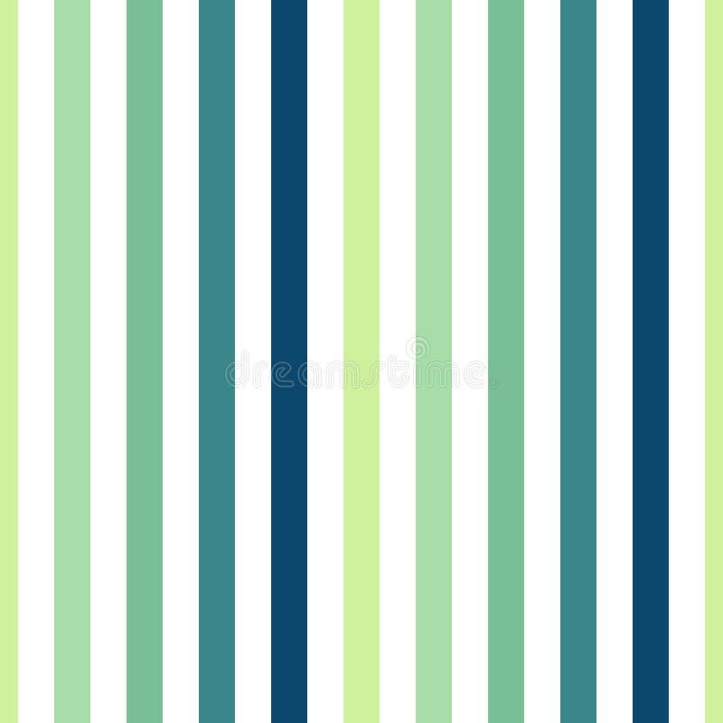Verde sem emenda da listra do teste padrão, azul, laranja, cores amarelas Ilustração vertical do vetor do fundo do sumário da lis ilustração stock