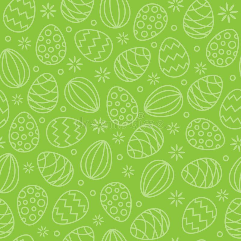 Verde sem emenda do fundo do vetor do teste padrão dos ovos da páscoa ilustração royalty free