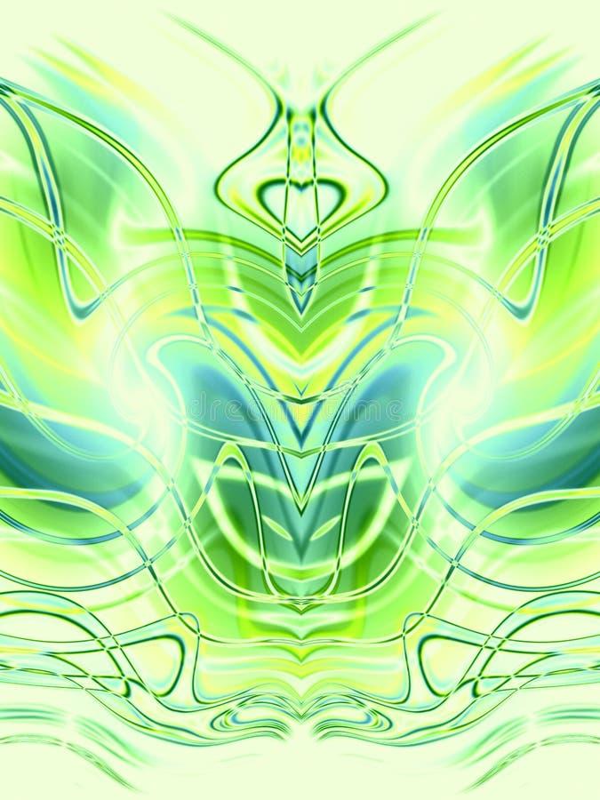 Verde simétrico de los modelos   ilustración del vector