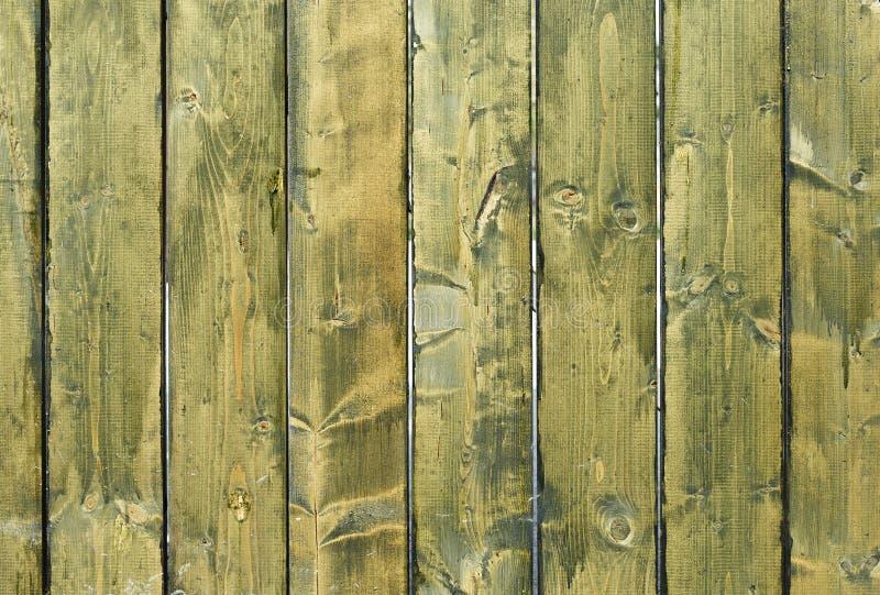 Verde stagionato incrinato ed il blu hanno dipinto la struttura del bordo di legno fotografie stock libere da diritti