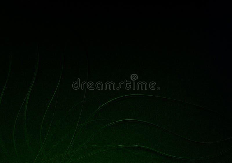 Verde su progettazione strutturata floreale nera del fondo per la carta da parati fotografia stock