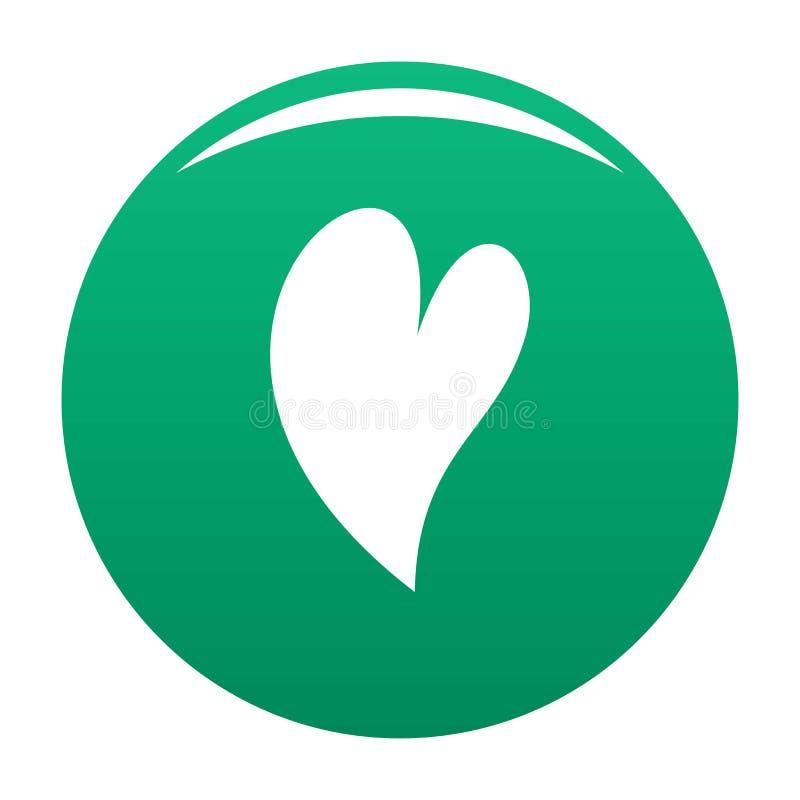 Verde surdo do vetor do ícone do coração ilustração do vetor