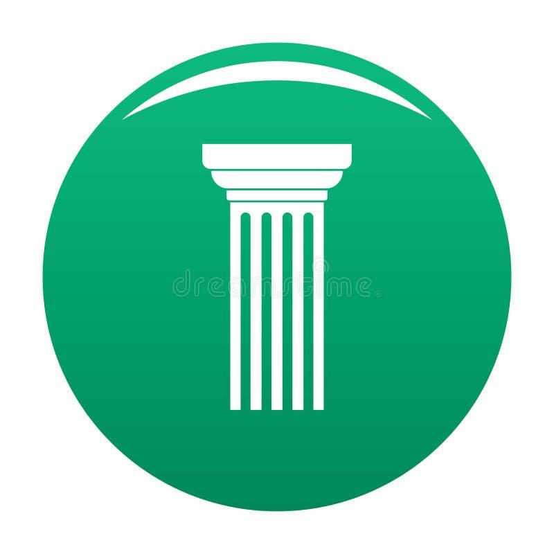 Verde triangolare di vettore dell'icona della colonna illustrazione vettoriale