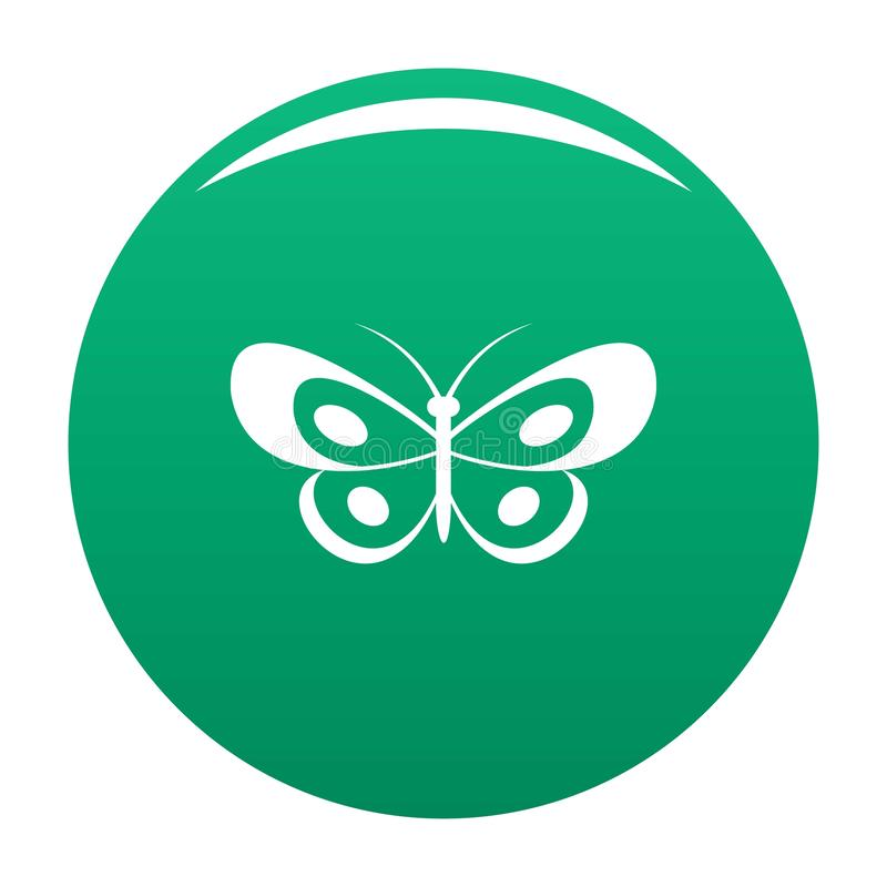 Verde tropicale di vettore dell'icona della farfalla illustrazione vettoriale
