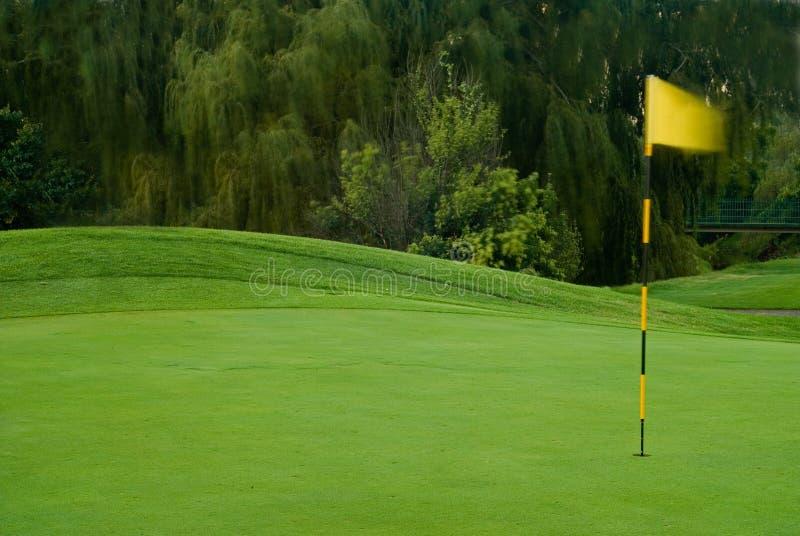 Verde ventoso do golfe foto de stock royalty free