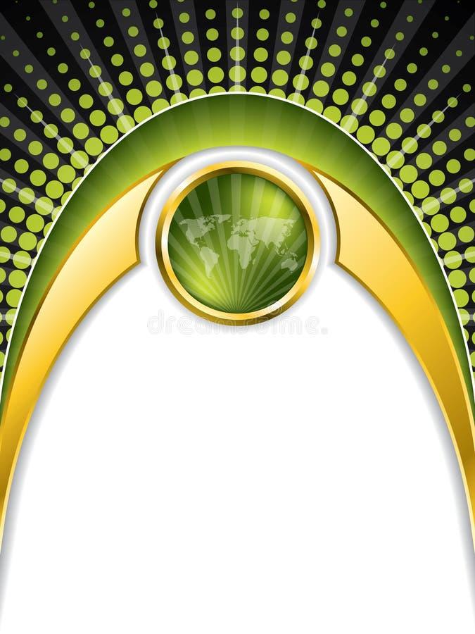 Verde y diseño del folleto del oro libre illustration
