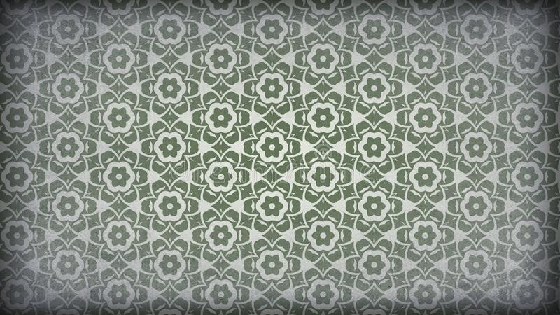 Verde y fondo de Grey Vintage Decorative Floral Pattern libre illustration
